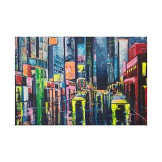 都市反射 キャンバスプリント