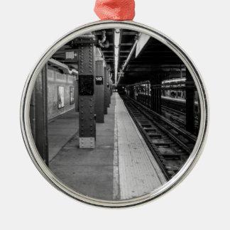 都市地下鉄の写真 メタルオーナメント