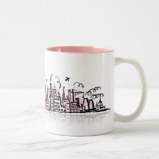 都市場面マグ ツートーンマグカップ