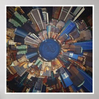 都市場面環境 ポスター