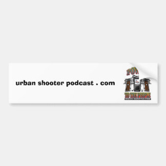 都市射手のポッドキャスト。 com バンパーステッカー