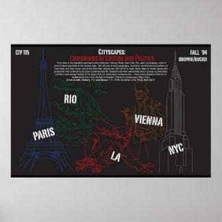 都市景観のクラスのためのポスター ポスター