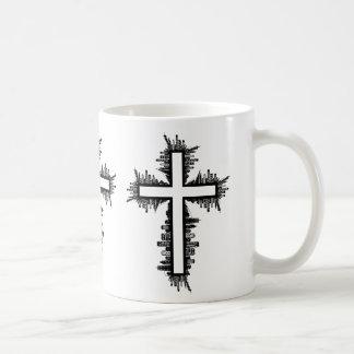 都市景観の十字 コーヒーマグカップ
