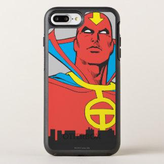 都市景観の後ろの赤いトルネード オッターボックスシンメトリーiPhone 8 PLUS/7 PLUSケース