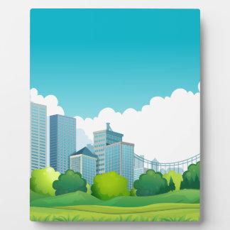 都市眺め フォトプラーク