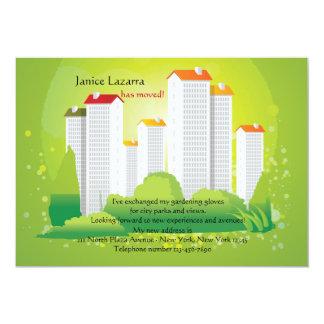 都市緑の移動発表 12.7 X 17.8 インビテーションカード