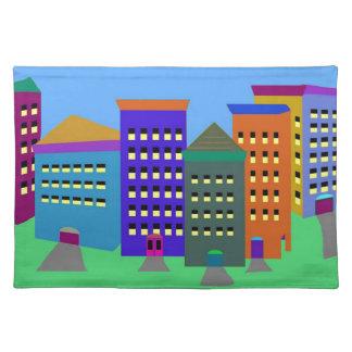 都市芸術の布のランチョンマット ランチョンマット