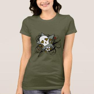 都市芸術的な入れ墨のスカルおよび華麗さの芸術 Tシャツ