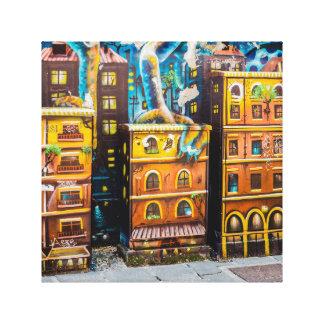 都市落書きのバックラムの芸術 キャンバスプリント
