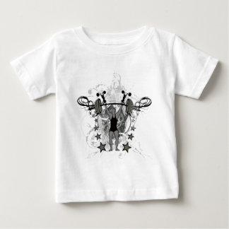都市重量挙げ選手のイラストレーション ベビーTシャツ