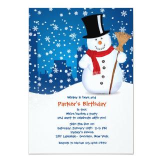 都市雪だるまの招待状 カード