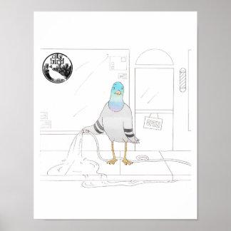 都市鳥 -- 店主ハトポスター(11 x 14) ポスター
