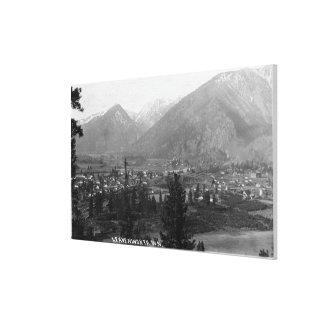 都市5の空中写真 キャンバスプリント