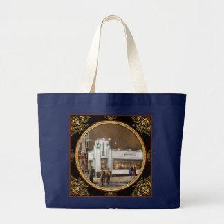 都市-アムステルダムNY -ハンバーガー5セント1941年 ラージトートバッグ