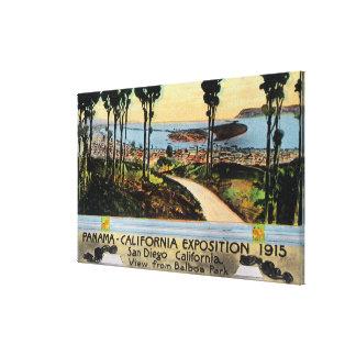 都市、パナマカリフォルニア博覧会のバルボア公園の眺め キャンバスプリント