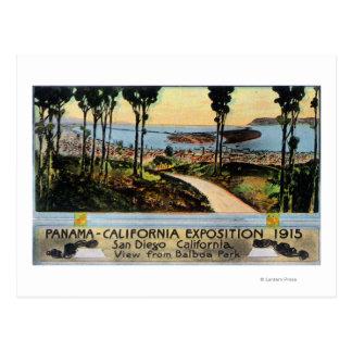 都市、パナマカリフォルニア博覧会のバルボア公園の眺め ポストカード