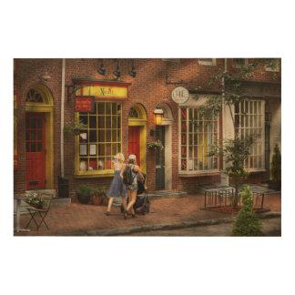 都市-フィラデルヒィア、PA -日私のベビーと ウッドウォールアート