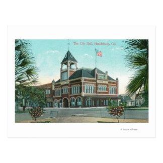 都市HallHealdsburg、カリフォルニアの外観 ポストカード