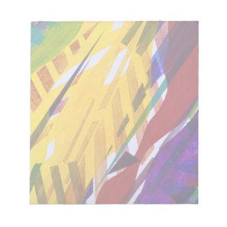 都市II -抽象的な虹の流れ ノートパッド