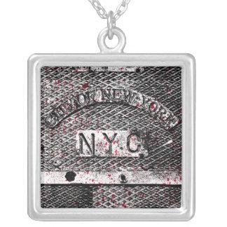 都市NYC シルバープレートネックレス