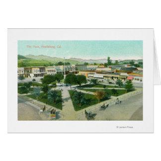 都市PlazaHealdsburg、カリフォルニアの空中写真 カード