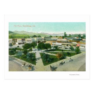 都市PlazaHealdsburg、カリフォルニアの空中写真 ポストカード