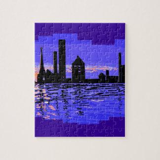 都市ScapeのパズルおよびTシャツ ジグソーパズル