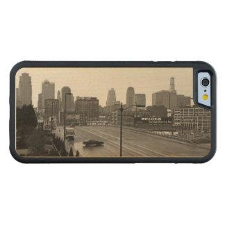 都心のカンザスシティ CarvedメープルiPhone 6バンパーケース