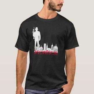 都心のギャングのスタイルの写実的なTシャツ- Tシャツ
