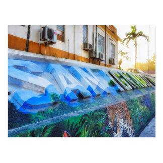 都心のサンイグナシオベリセの壁画の郵便はがき ポストカード