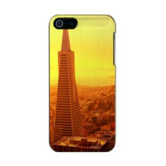 都心のサンフランシスコ、カリフォルニア メタリックiPhone SE/5/5sケース