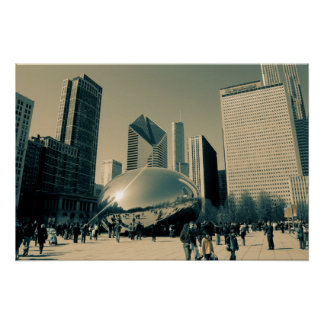 都心のシカゴ ポスター