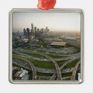 都心のダラス、テキサス州の空中写真 メタルオーナメント