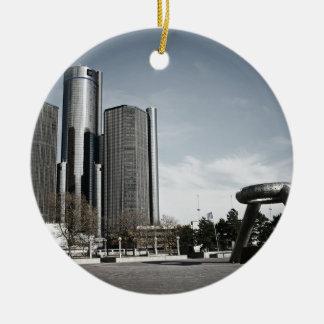 都心のデトロイト セラミックオーナメント