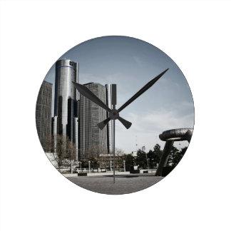 都心のデトロイト ラウンド壁時計
