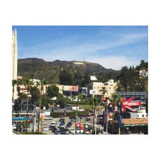 都心のハリウッド キャンバスプリント