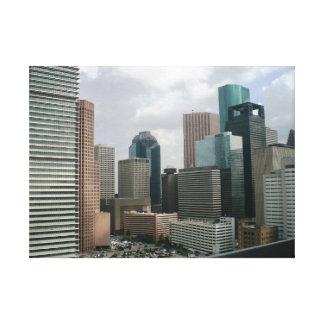 都心のヒューストン キャンバスプリント