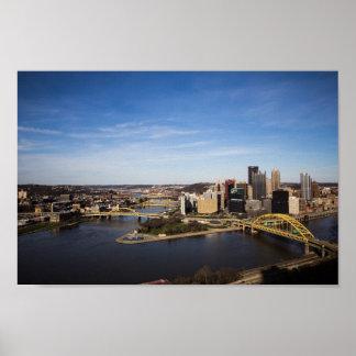都心のピッツバーグ、ペンシルバニア ポスター