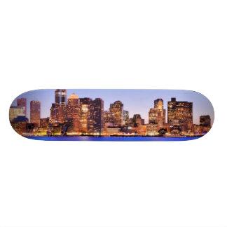 都心のボストンの財政地区の眺め スケボーデッキ