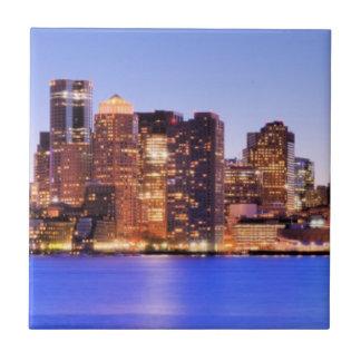 都心のボストンの財政地区の眺め タイル