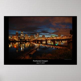 都心のポートランド、オレゴン ポスター