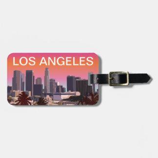 都心のロサンゼルス-カスタマイズ可能なイメージ ラゲッジタグ