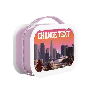 都心のロサンゼルス-カスタマイズ可能なイメージ ランチボックス