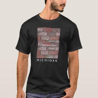 都心の燧石の煉瓦 Tシャツ