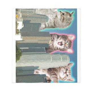 都心の猫 ノートパッド