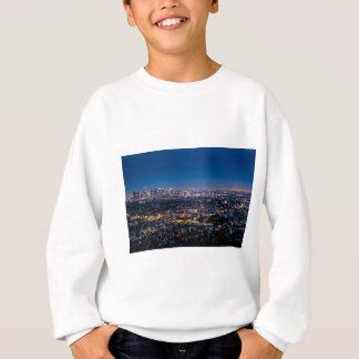 都心の都市ロサンゼルスの都市景観のスカイライン スウェットシャツ