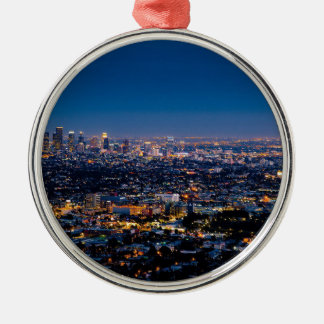 都心の都市ロサンゼルスの都市景観のスカイライン メタルオーナメント