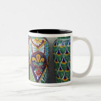 都心のLoretoの販売のためのカラフルな陶器、 ツートーンマグカップ