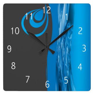 配管の会社の時計のデザイン スクエア壁時計