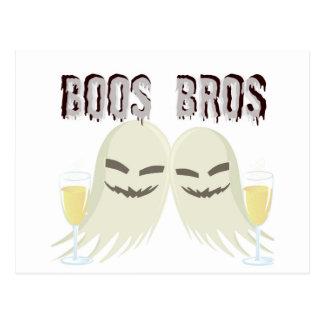 酒宴のおもしろいなプリントを持つブーイングBROSの幽霊 ポストカード